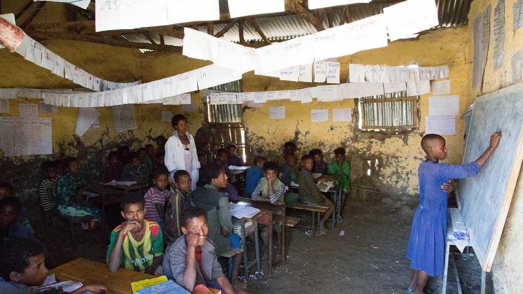In 10 countries with highest out-of-school rates, 40 per cent of children are not accessing basiceducation
