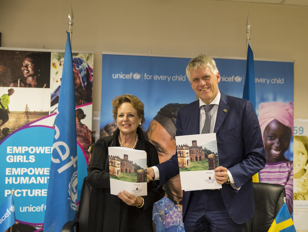 Sweden Signs an Agreement with UNICEF to Build an Integrated Safety Net System for the Most Vulnerable Women and Children in Ethiopia