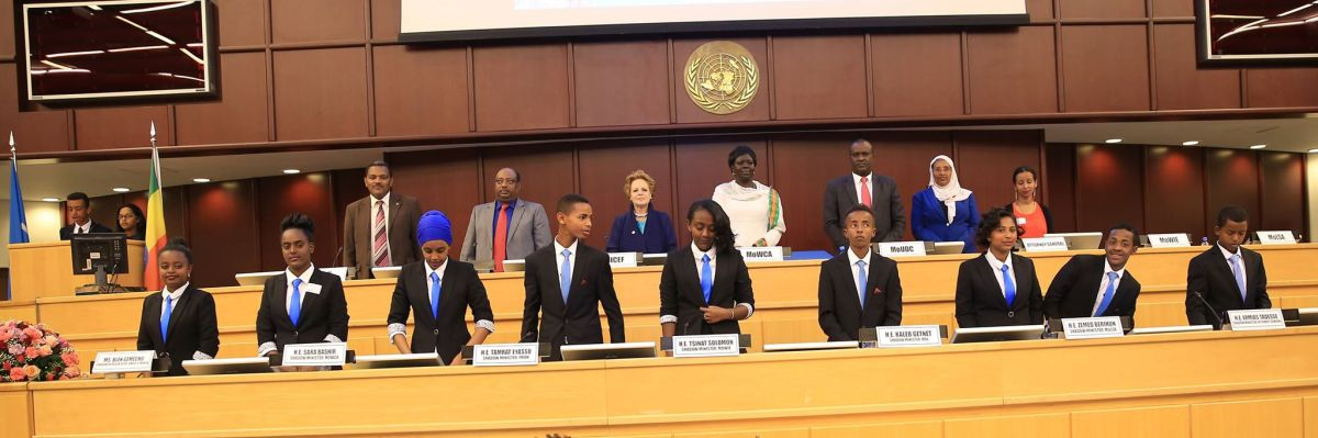 Children Takeover Minister Roles as Ethiopia celebrates World Children's Day and UNICEF Ethiopia's 65th Anniversary