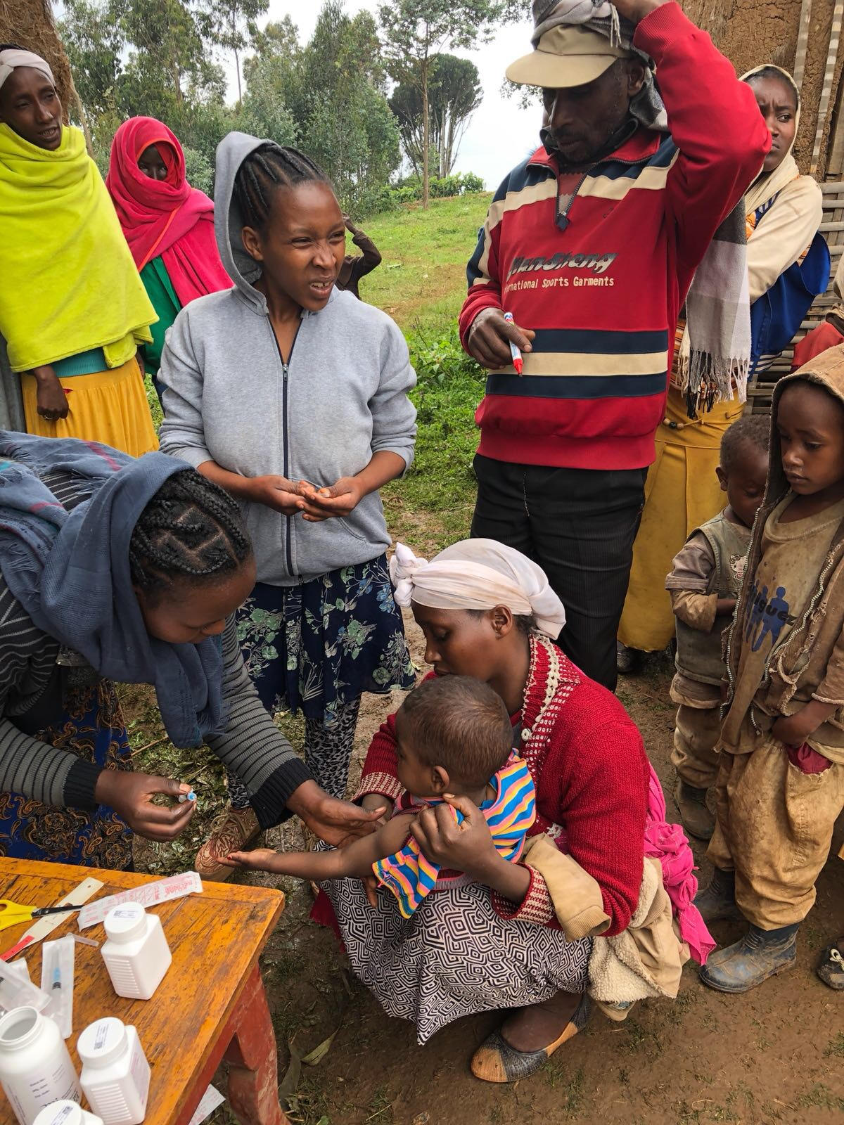 Ethiopia launches an integrated measles, vitamin A, and deworming campaign for displaced people in Gedeo Zone