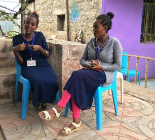 Debessa, a health extension worker describing the training on Baby WASH activities and how she plans to work with mothers in her community ©UNICEF2018Stauffacher